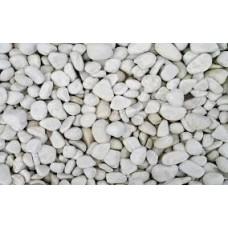 Декоративная галька белая Верона 25-40 мм