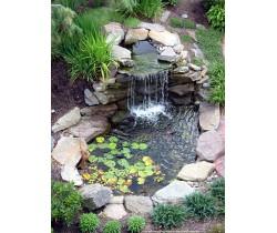 Применение натурального камня в оформлении зоны пруда, водопадов, ручья, басейна, искусственного озера.