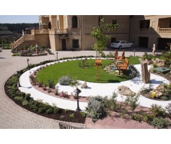 Натуральний камінь - крихта мармурова для дизайну саду