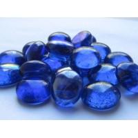 Декоративный камень стеклянный синий