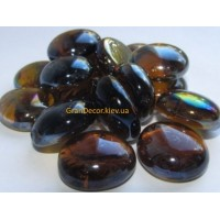 Камни коричневые стеклянные