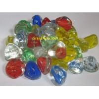 Камни стеклянные микс - 3