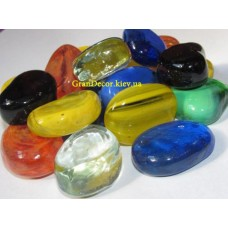 Камни декоративные стеклянные микс
