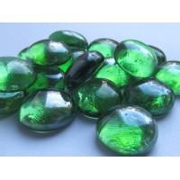 Камни декоративные зеленые стеклянные